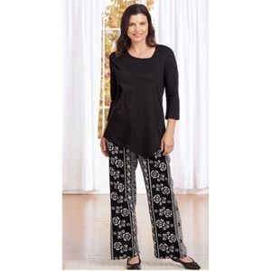 NWT! Plus Size Contemporary 2 Piece Top/Pants Set